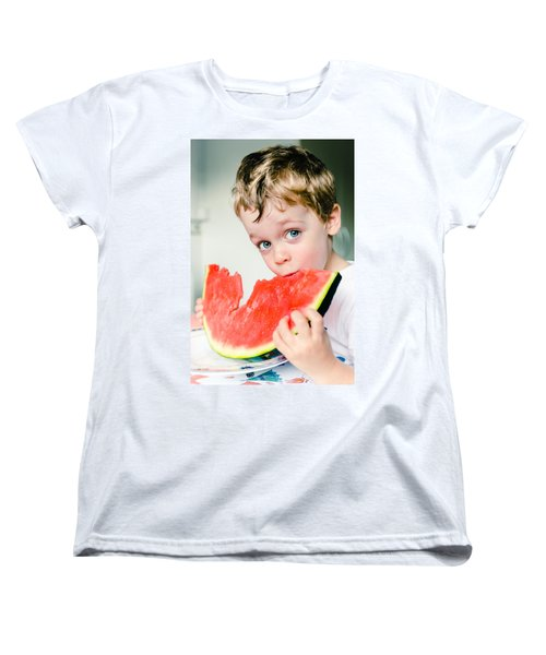 A Slice Of Life Women's T-Shirt (Standard Cut) by Marco Oliveira