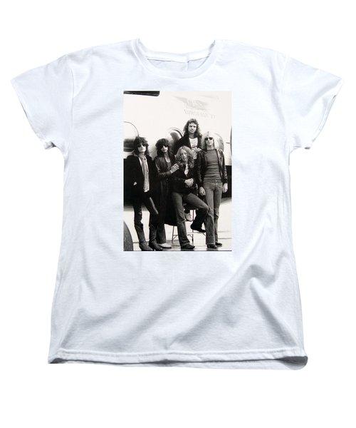 Aerosmith - Eurofest Jet 1977 Women's T-Shirt (Standard Cut) by Epic Rights