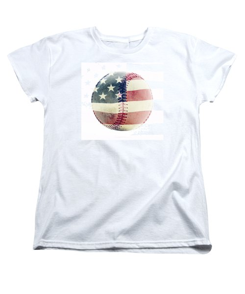 American Baseball Women's T-Shirt (Standard Cut) by Terry DeLuco