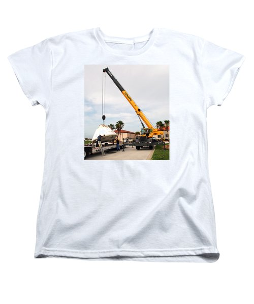 Women's T-Shirt (Standard Cut) featuring the photograph Apollo Capsule Going In For Repairs by Science Source