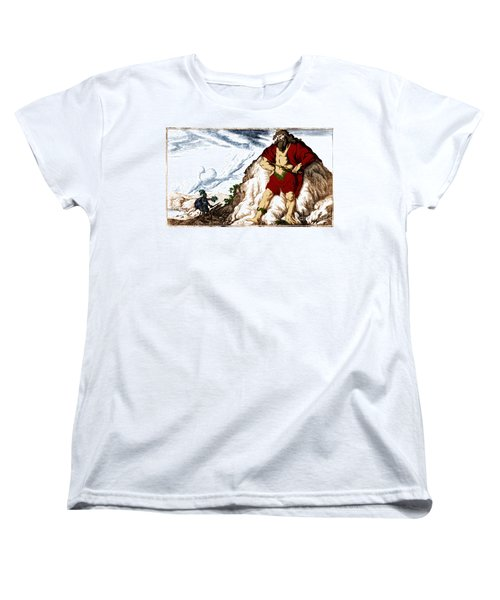 Atlas And Perseus, Greek Mythology Women's T-Shirt (Standard Cut) by Photo Researchers