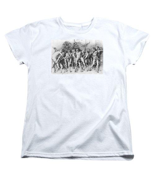 Bacchanal With Silenus - Albrecht Durer Women's T-Shirt (Standard Cut) by Daniel Hagerman