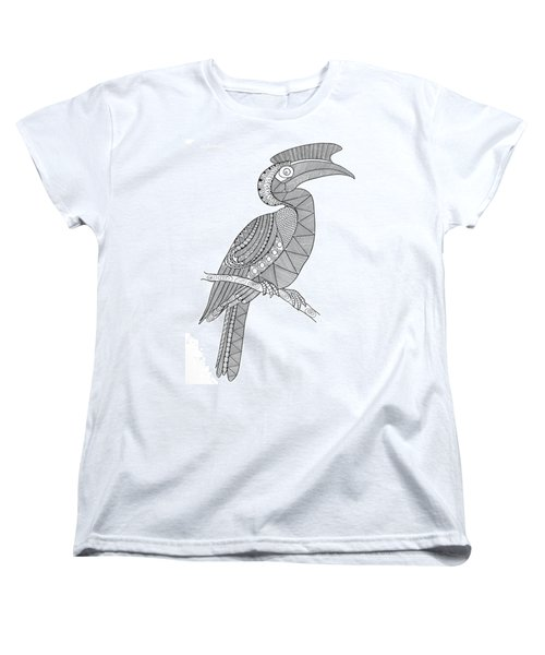 Bird Hornbill Women's T-Shirt (Standard Cut) by Neeti Goswami