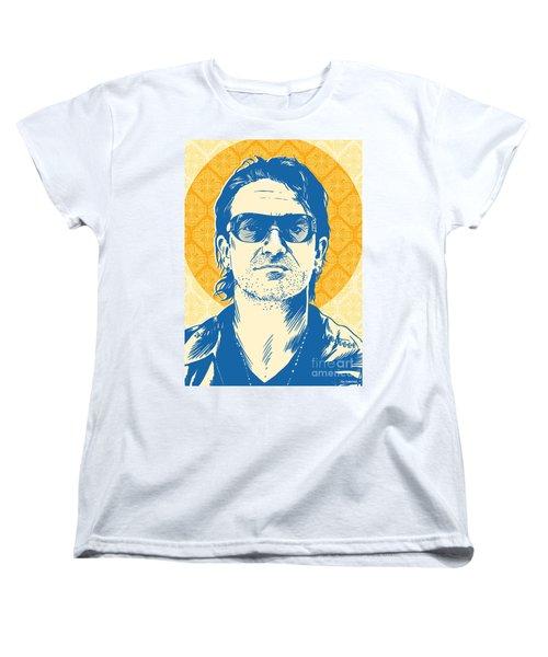 Bono Pop Art Women's T-Shirt (Standard Cut) by Jim Zahniser