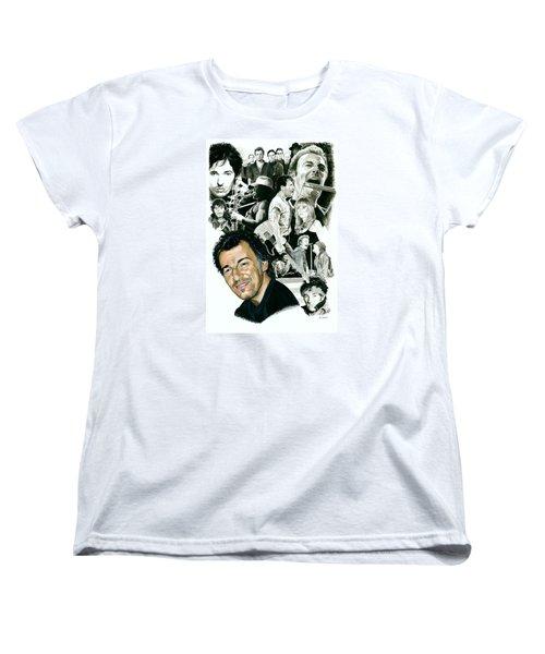 Bruce Springsteen Through The Years Women's T-Shirt (Standard Cut) by Ken Branch