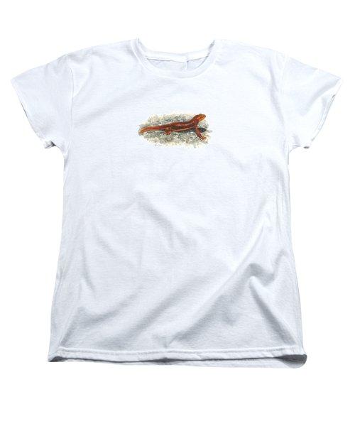 California Newt Women's T-Shirt (Standard Cut) by Cindy Hitchcock
