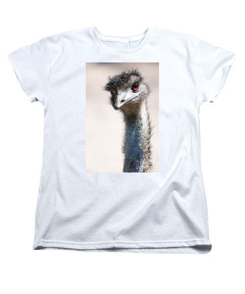 Curious Emu Women's T-Shirt (Standard Cut) by Carol Groenen