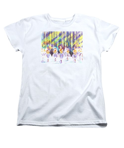 Dancers In The Forest Women's T-Shirt (Standard Cut) by Kip DeVore