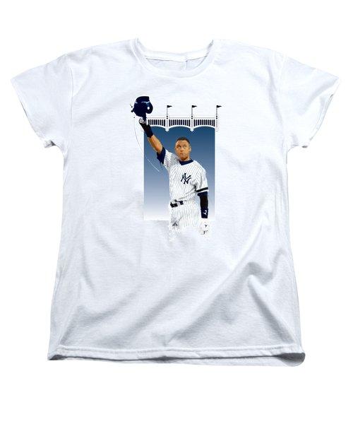 Derek Jeter 3000 Hits Women's T-Shirt (Standard Cut) by Scott Weigner