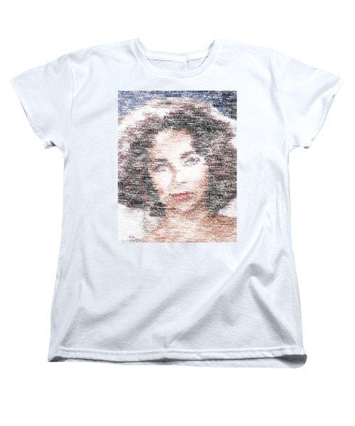 Elizabeth Taylor Typo Women's T-Shirt (Standard Cut) by Taylan Apukovska