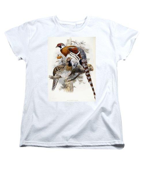 Elliot's Pheasant Women's T-Shirt (Standard Cut) by Joseph Wolf