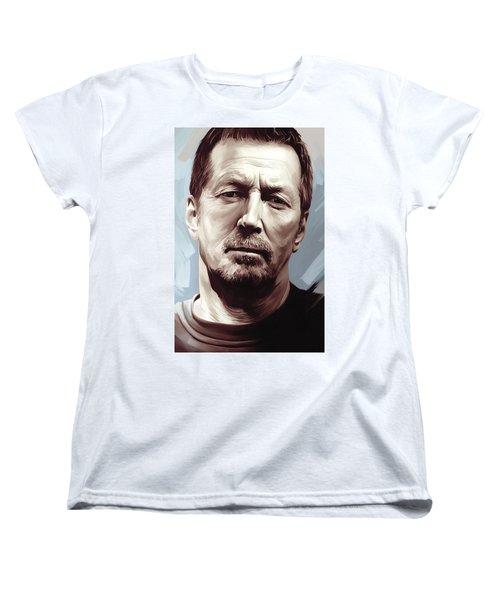 Eric Clapton Artwork Women's T-Shirt (Standard Cut) by Sheraz A