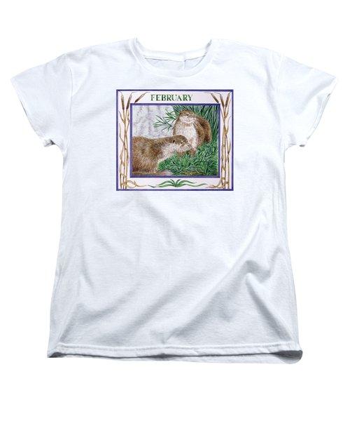 February Wc On Paper Women's T-Shirt (Standard Cut) by Catherine Bradbury