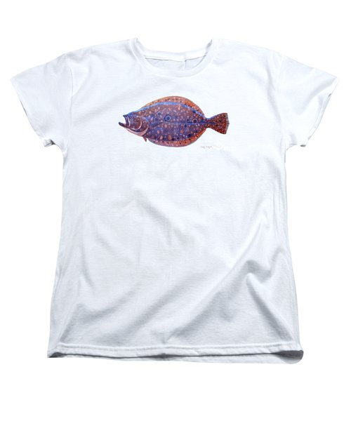 Flounder Women's T-Shirt (Standard Cut) by Carey Chen