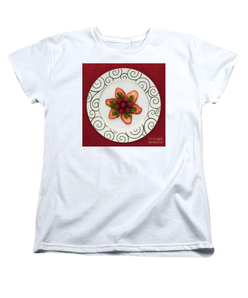 Flowering Fruits Women's T-Shirt (Standard Cut) by Anne Gilbert
