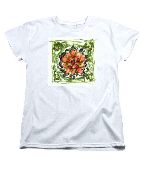 Fresh Fruit Salad Women's T-Shirt (Standard Cut) by Anne Gilbert