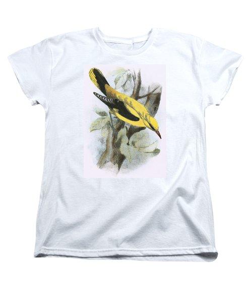 Golden Oriole Women's T-Shirt (Standard Cut) by English School
