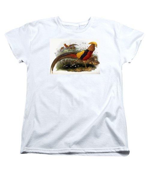 Golden Pheasants Women's T-Shirt (Standard Cut) by Joseph Wolf