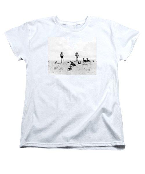Golf With Gooney Birds Women's T-Shirt (Standard Cut) by Underwood Archives