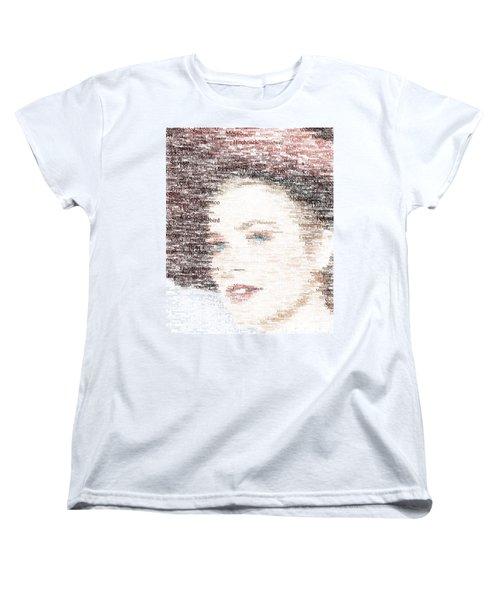 Grace Kelly Typo Women's T-Shirt (Standard Cut) by Taylan Soyturk