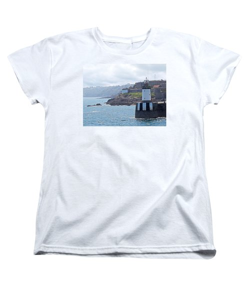 Guernsey Lighthouse Women's T-Shirt (Standard Cut) by Gill Billington