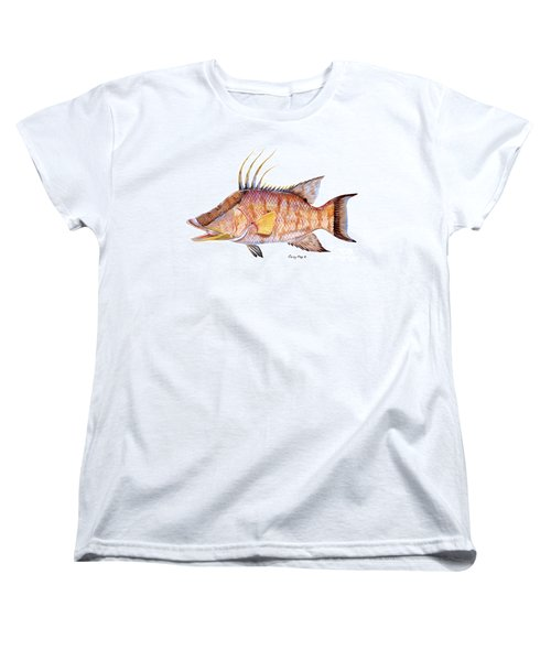 Hog Fish Women's T-Shirt (Standard Cut) by Carey Chen