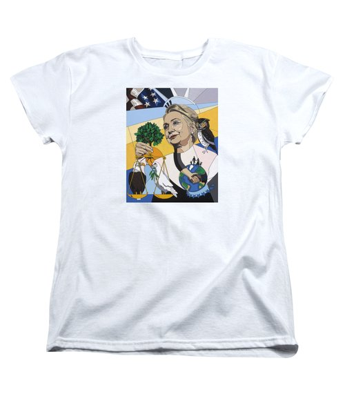 In Honor Of Hillary Clinton Women's T-Shirt (Standard Cut) by Konni Jensen