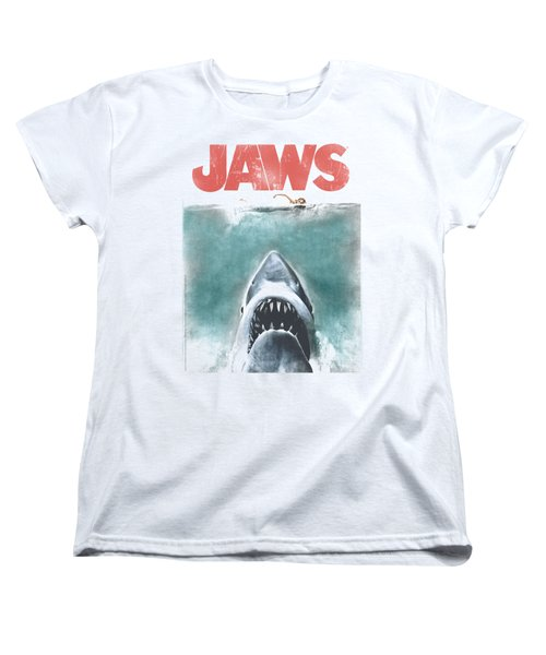 Jaws - Vintage Poster Women's T-Shirt (Standard Cut) by Brand A