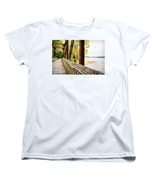 Katy Trail Near Coopers Landing Women's T-Shirt (Standard Cut) by Cricket Hackmann