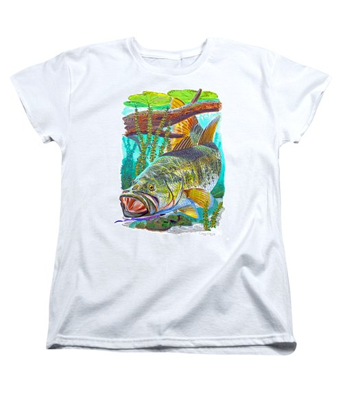 Largemouth Bass Women's T-Shirt (Standard Cut) by Carey Chen