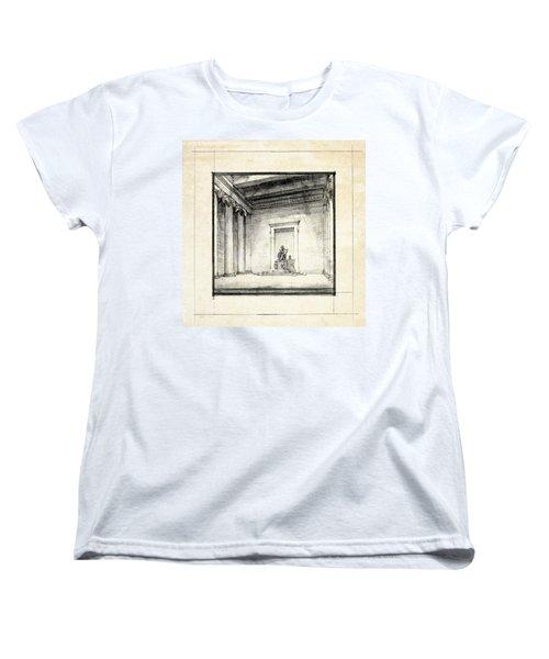 Lincoln Memorial Sketch IIi Women's T-Shirt (Standard Cut) by Gary Bodnar