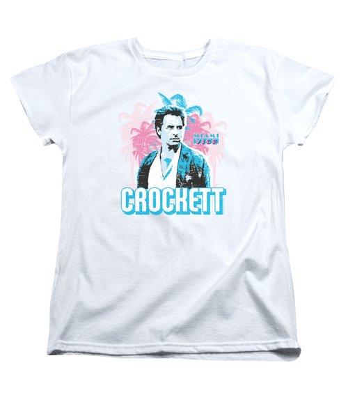 Miami Vice - Crockett Women's T-Shirt (Standard Cut) by Brand A