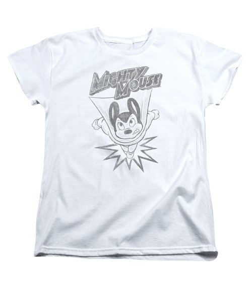 Mighty Mouse - Bursting Out Women's T-Shirt (Standard Cut) by Brand A