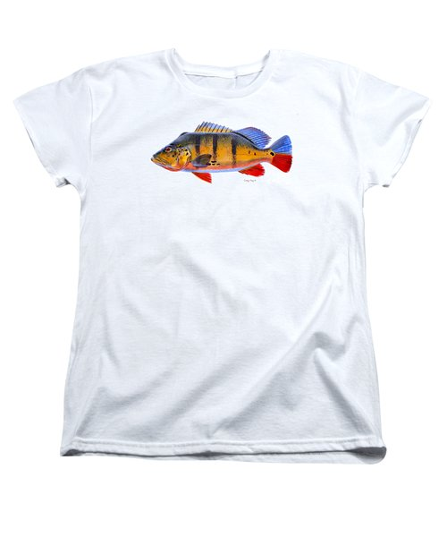 Peacock Bass Women's T-Shirt (Standard Cut) by Carey Chen