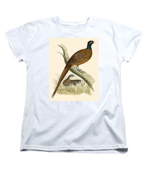 Pheasant Women's T-Shirt (Standard Cut) by Beverley R Morris