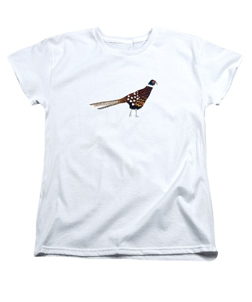 Pheasant Women's T-Shirt (Standard Cut) by Isobel Barber
