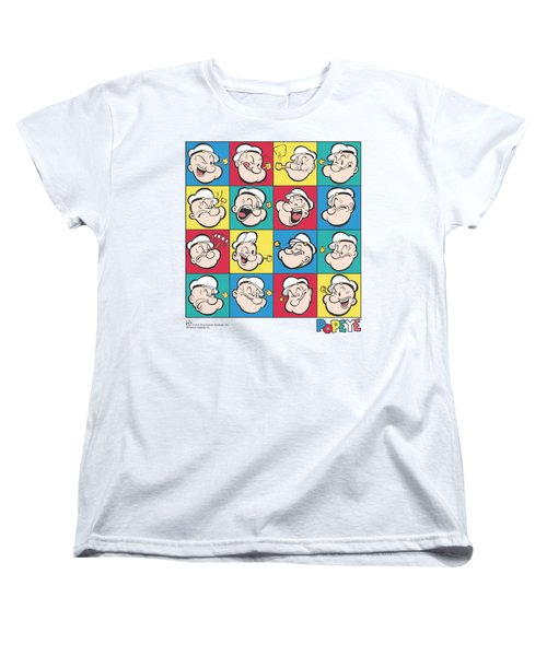 Popeye - Color Block Women's T-Shirt (Standard Cut) by Brand A