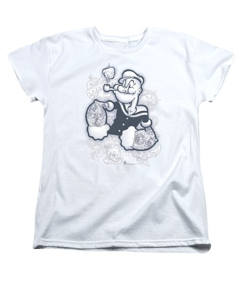Popeye - Tattooed Women's T-Shirt (Standard Cut) by Brand A