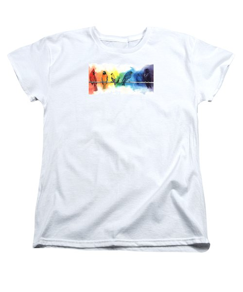 Rainbow Birds Women's T-Shirt (Standard Cut) by Antony Galbraith