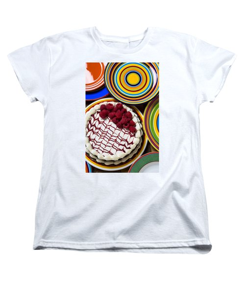 Raspberry Cake Women's T-Shirt (Standard Cut) by Garry Gay
