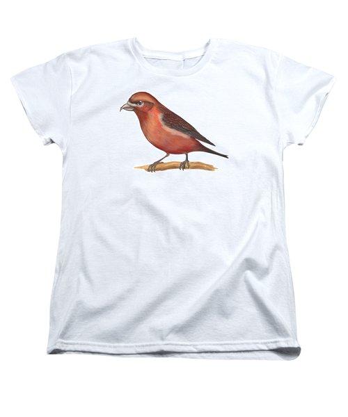 Red Crossbill Women's T-Shirt (Standard Cut) by Anonymous