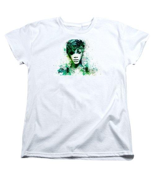 Rihanna 5 Women's T-Shirt (Standard Cut) by Bekim Art
