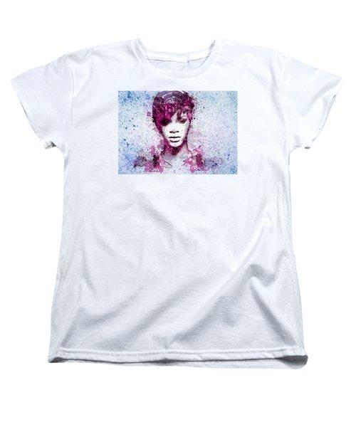 Rihanna 8 Women's T-Shirt (Standard Cut) by Bekim Art