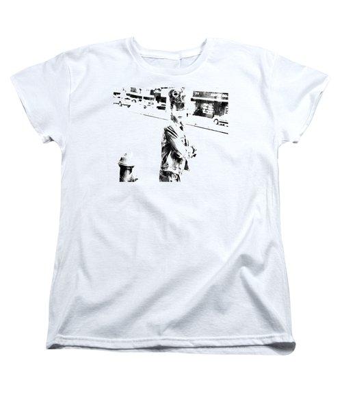 Rihanna Hanging Out Women's T-Shirt (Standard Cut) by Brian Reaves