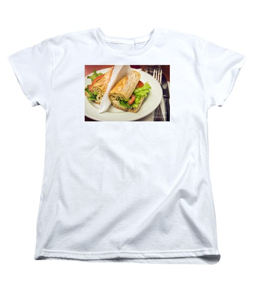 Sandwish On Table Women's T-Shirt (Standard Cut) by Carlos Caetano