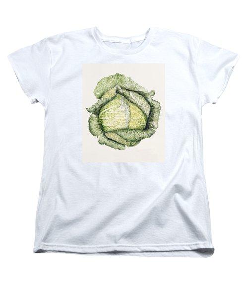 Savoy Cabbage  Women's T-Shirt (Standard Cut) by Alison Cooper