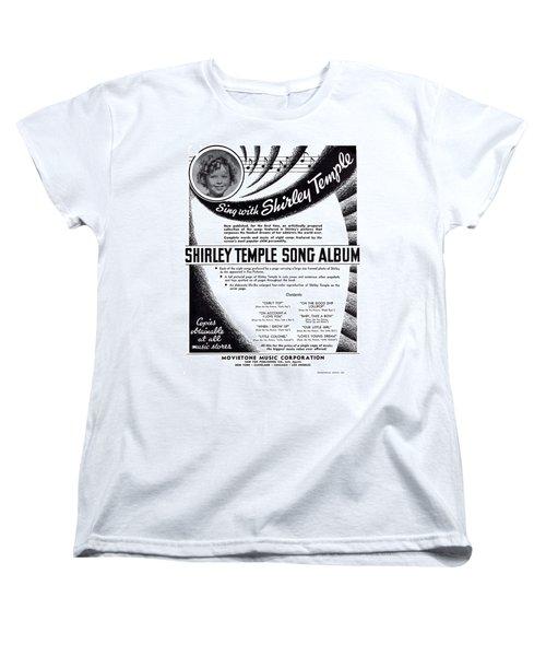 Shirley Temple Song Album Women's T-Shirt (Standard Cut) by Mel Thompson