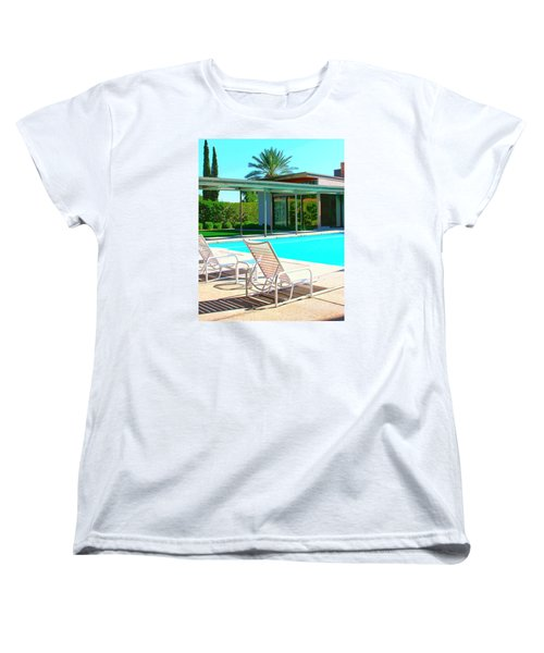 Sinatra Pool Palm Springs Women's T-Shirt (Standard Cut) by William Dey