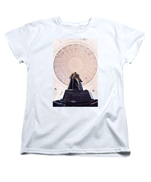 Statue Of Thomas Jefferson Women's T-Shirt (Standard Cut) by Panoramic Images