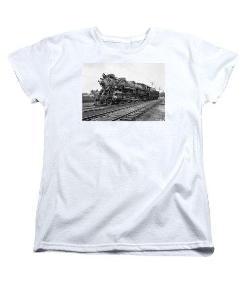 Steam Locomotive Crescent Limited C. 1927 Women's T-Shirt (Standard Cut) by Daniel Hagerman